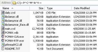 PCMAV with ClamAV Integration