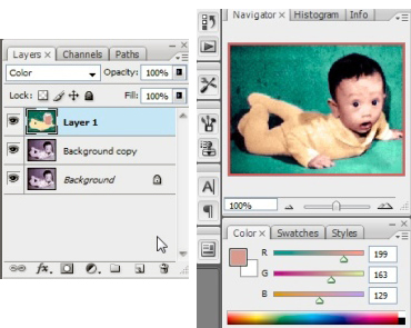 Photoshop CS3 - Layer and Color Panel